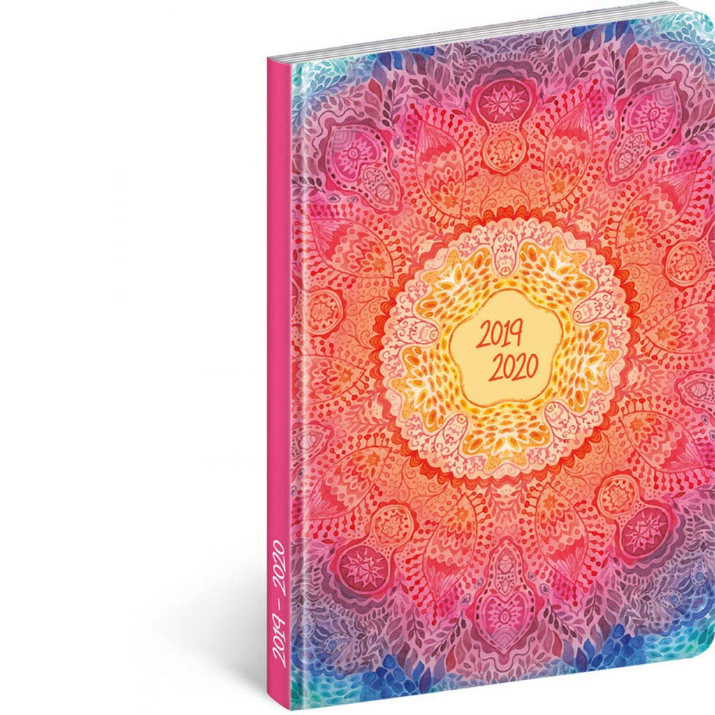 Diár Petito 2019/2020 – Mandala (110x170 mm), 18 mesač. CZ/SK