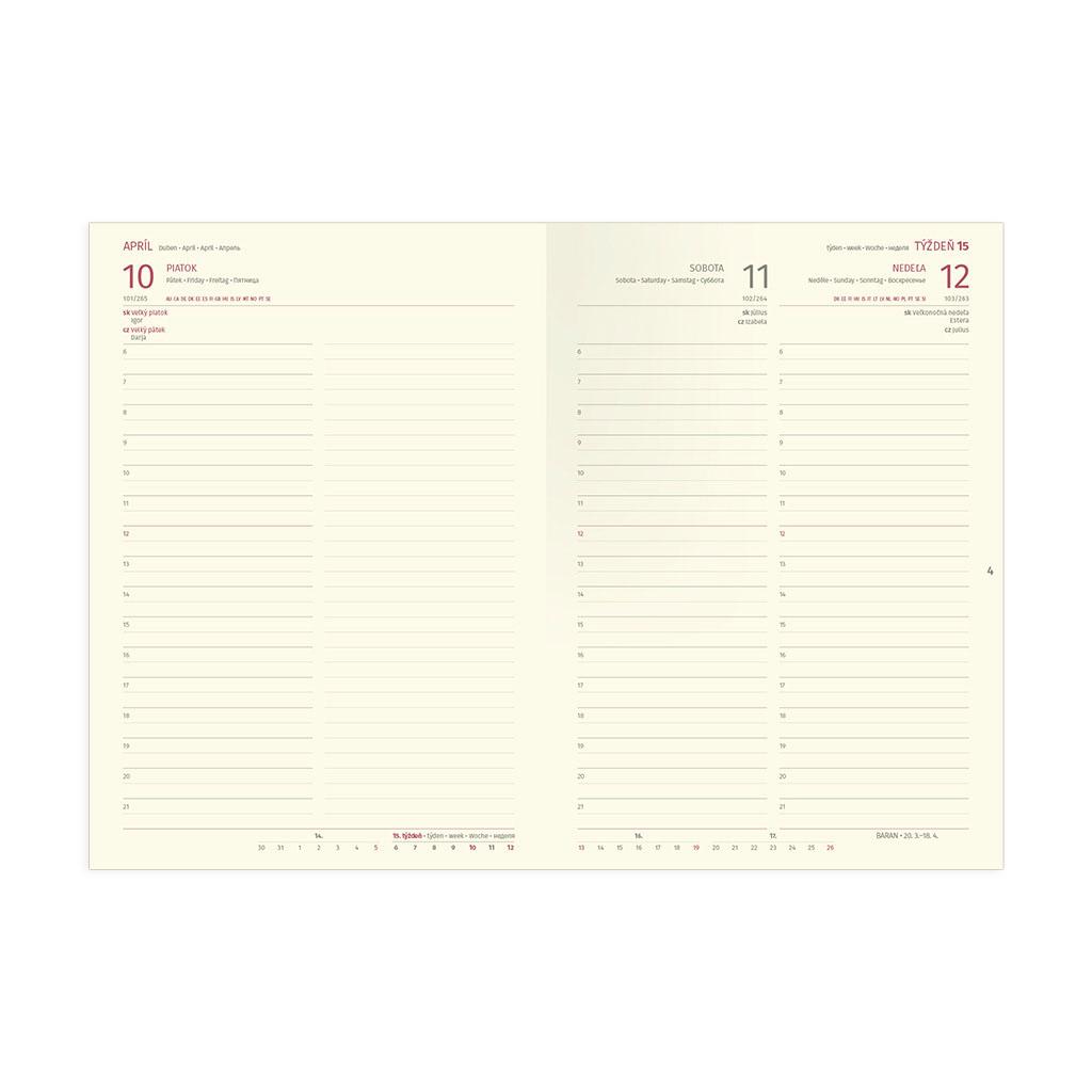 Denný diár WOOD 2020 / A5 (148x210 mm)
