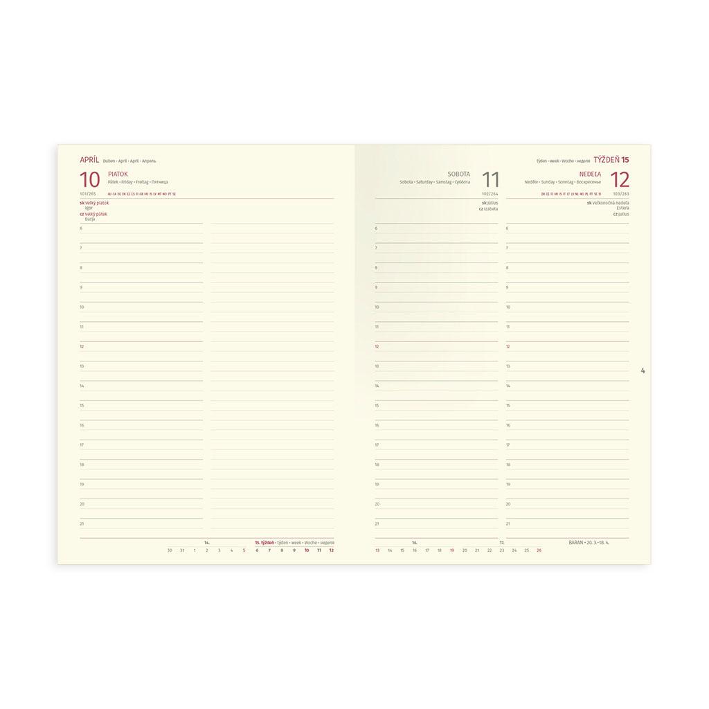 Denný diár JOY šedý 2020 / A5 (148x210 mm)