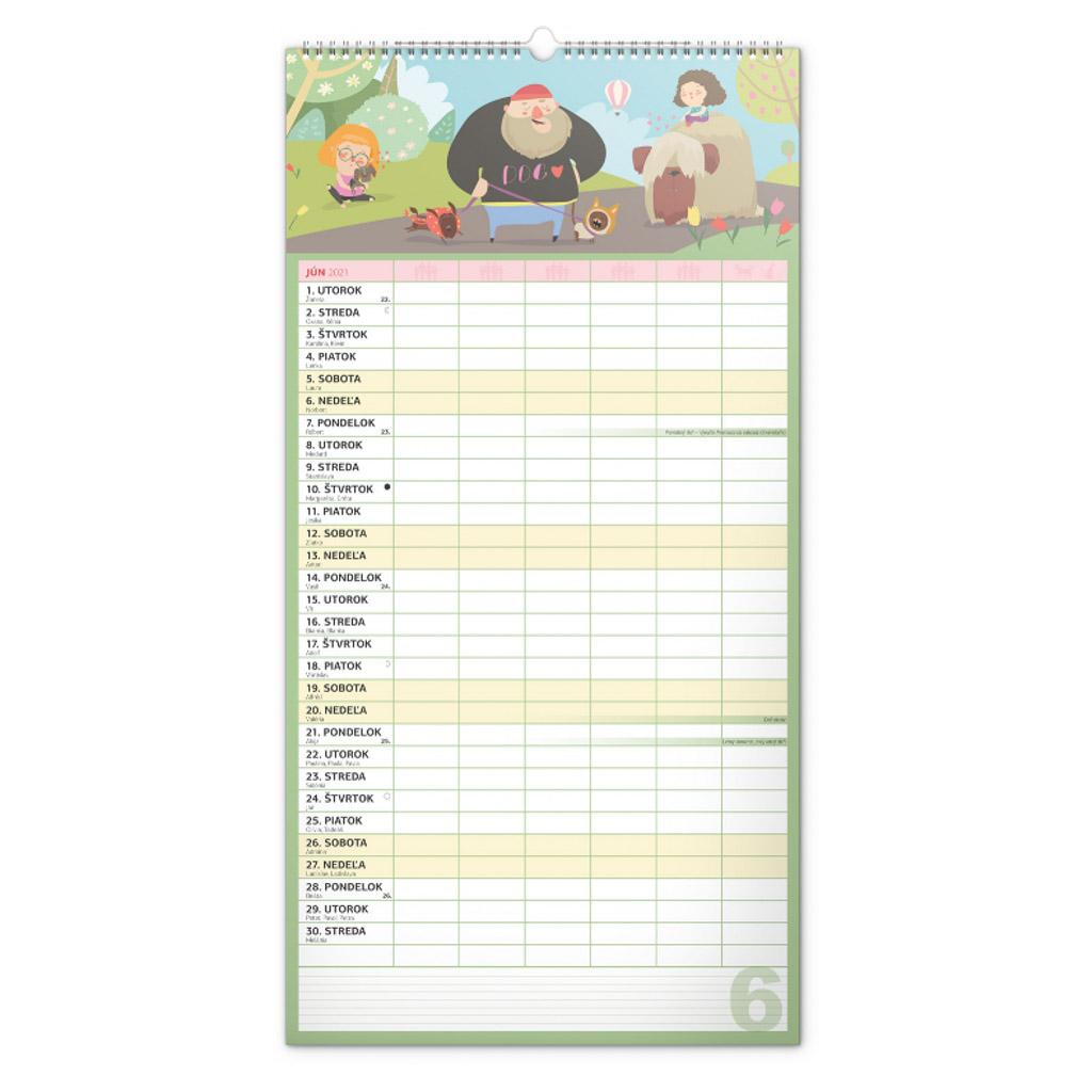 Rodinný kalendár XXL 2021 (NK- 330x640 mm)