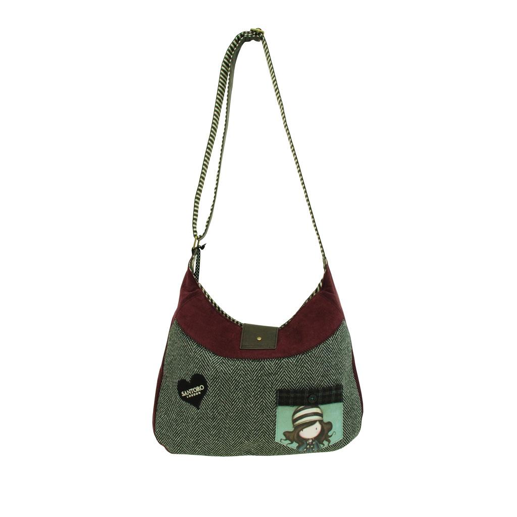 Gorjuss taška na rameno s magnet. sponou a vreckom - The Foxes, 350 x 415 x 25 mm
