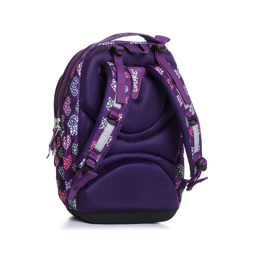 Batoh Explore BAG - Girls, Purple Hearts