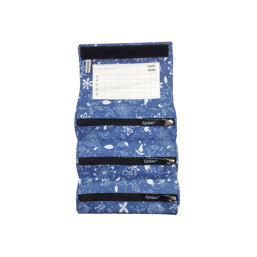 Peračník Explore - etue - rolovacie - Girls, Light Blue Flowers