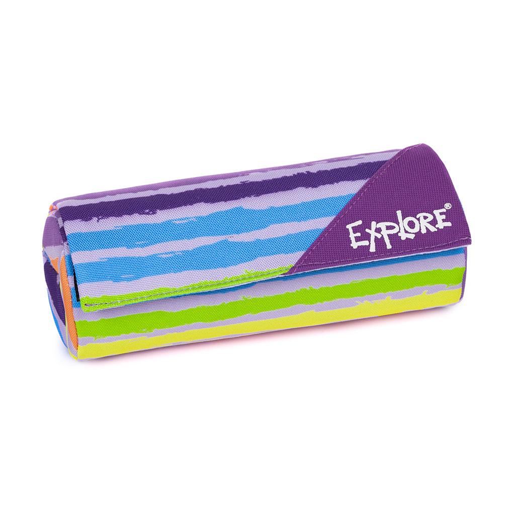 Peračník Explore - etue - rolovacie 3 vrec.- Girls, Stripes