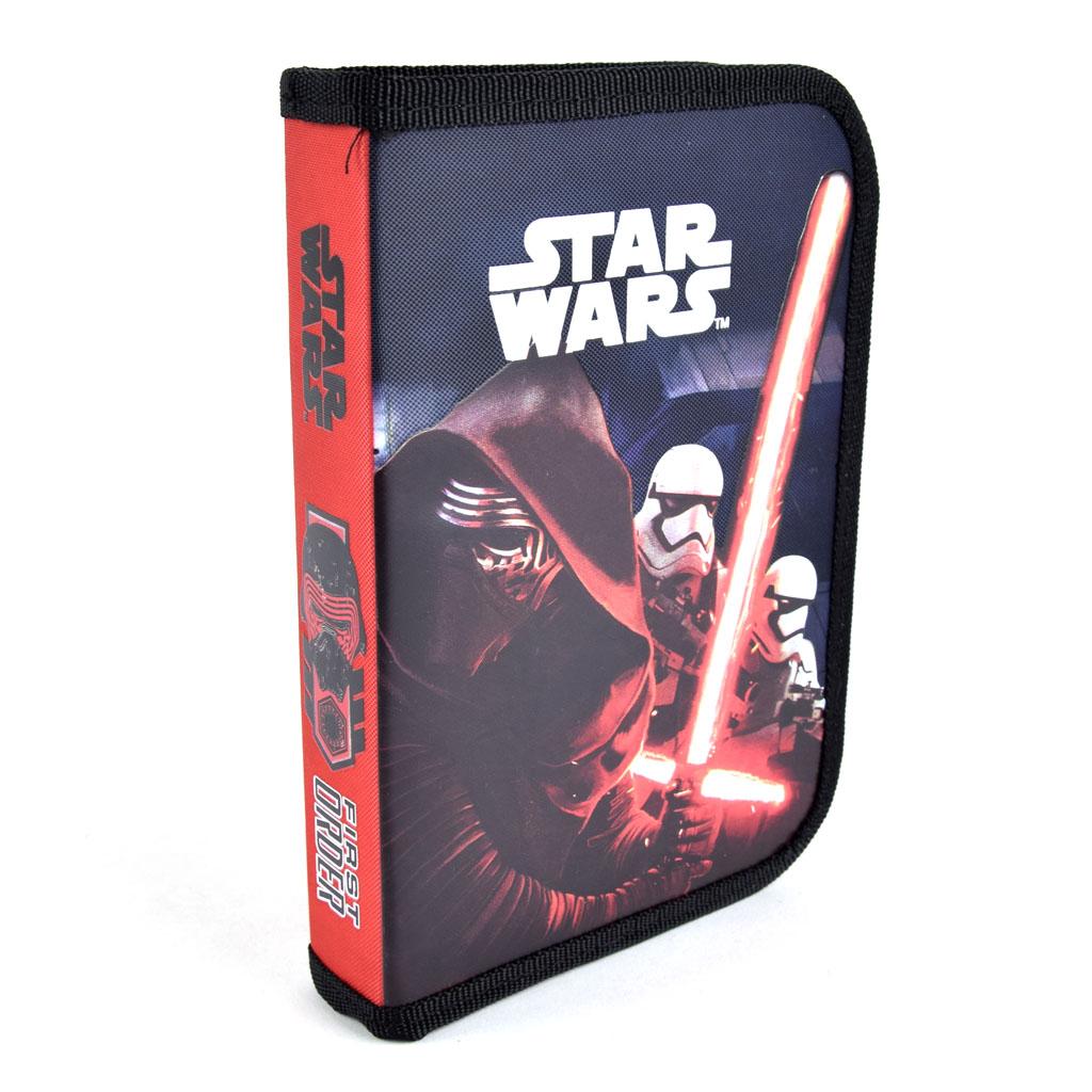 Peračník 1 zip. s 2 chlopňami prázdny -  Star Wars, červený