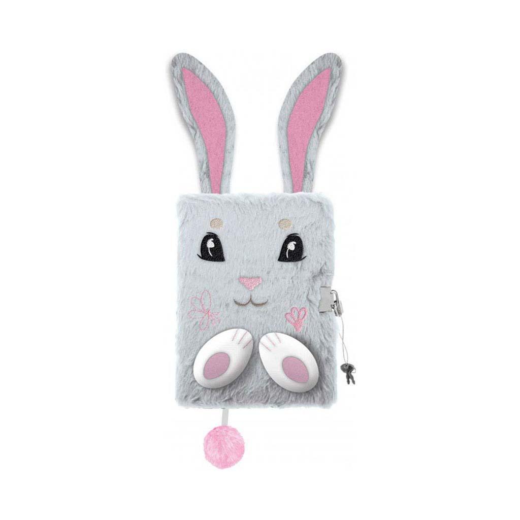 Pamätník A5 plyšový so zámkom, Bunny