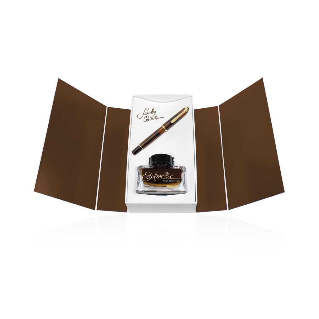 Pelikan M200 Smoky Quartz, plniace pero + atrament, darčeková kazeta