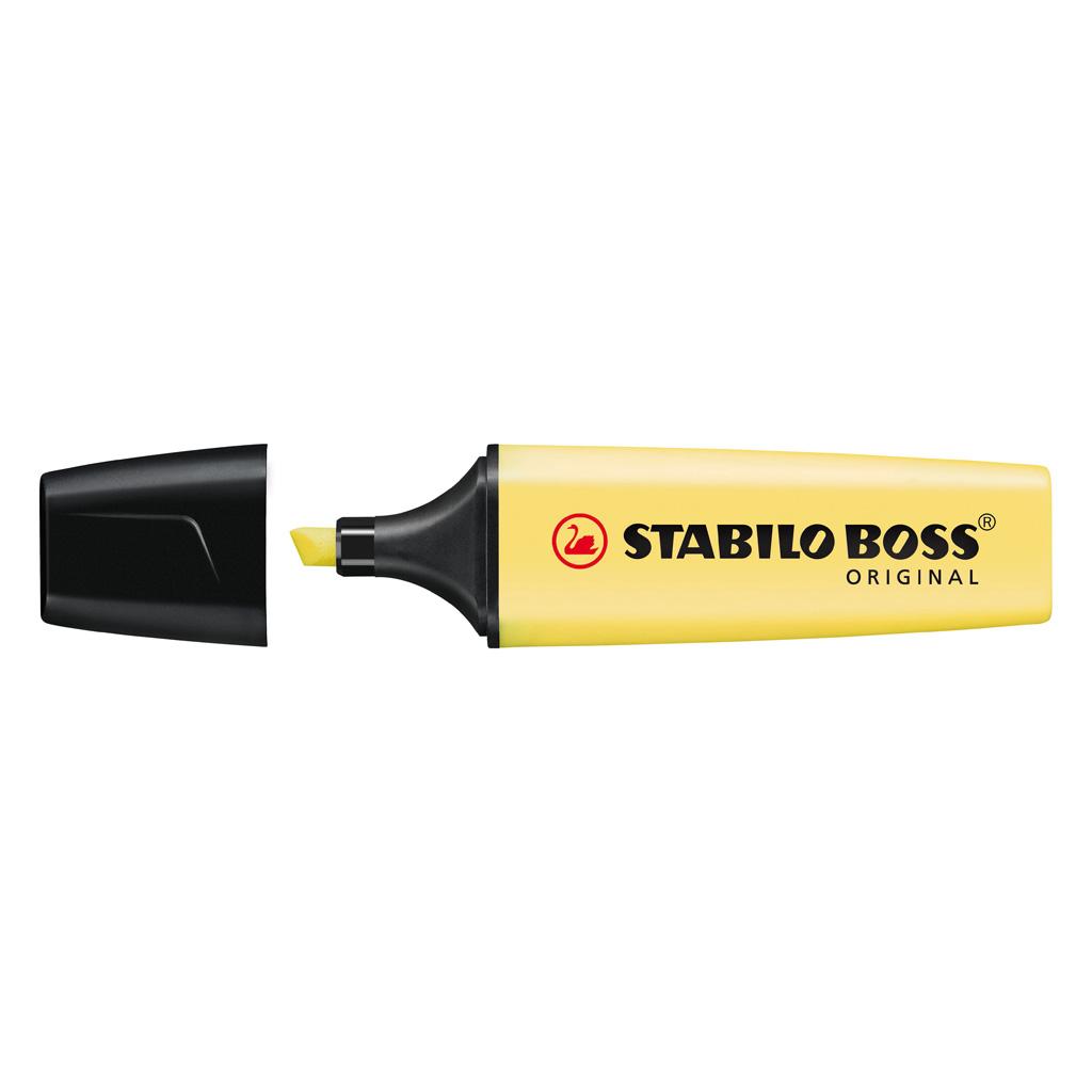 Stabilo zvýrazňovač  Boss Pastel 70/144 - pastelová žltá