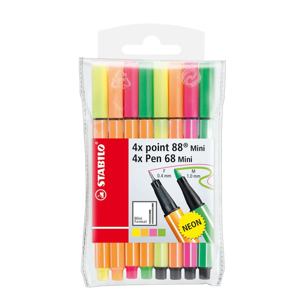 Stabilo Point 88 / Pen 68 Mini Neon 68868 / 8 ks