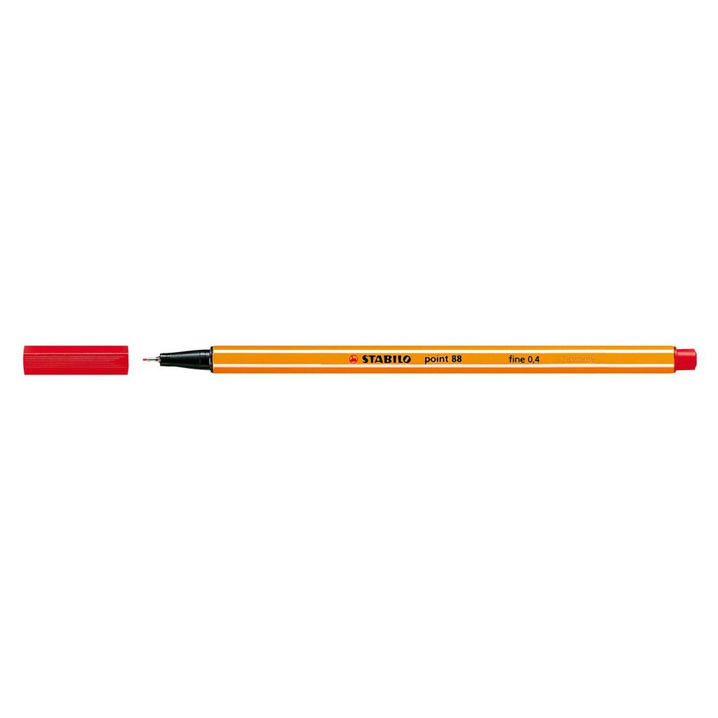 Stabilo popisovač  Point 88/40 0,4 liner - červená