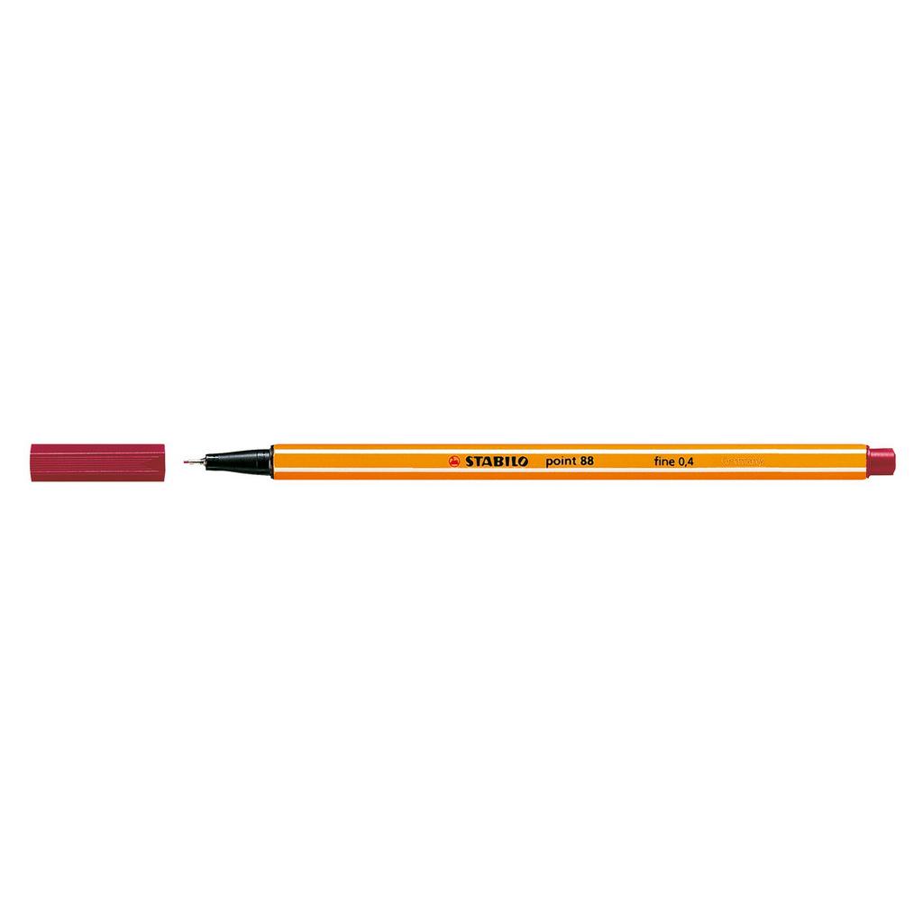 Stabilo popisovač  Point 88/50 0,4 liner - tmavo červená