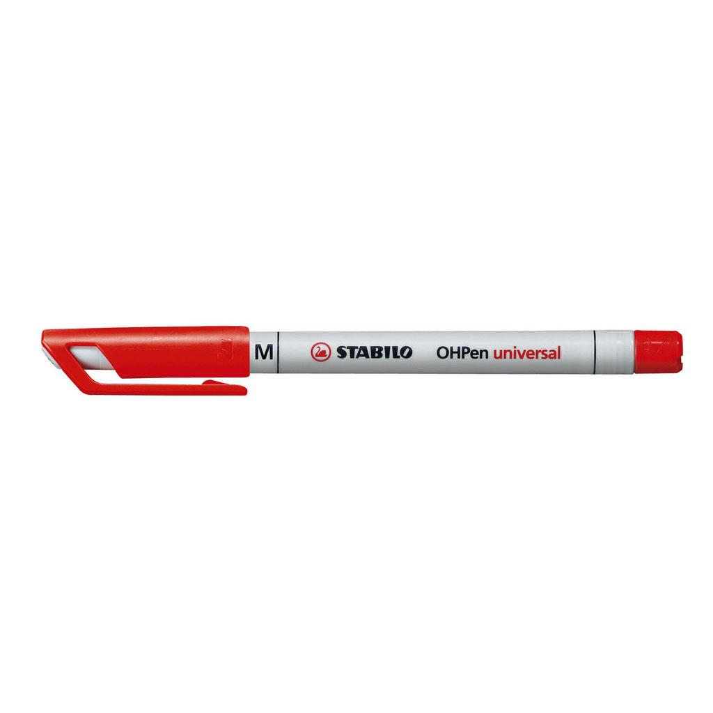 Stabilo Popisovač non-permanent OHPen 853/40, hrot 1 mm, červený
