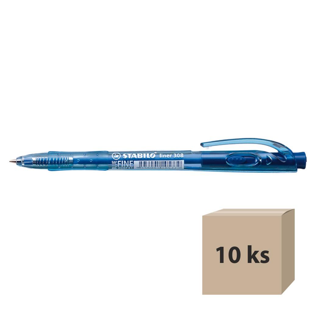 Stabilo Guľôčkové pero 308/41 – modrá, 10 ks