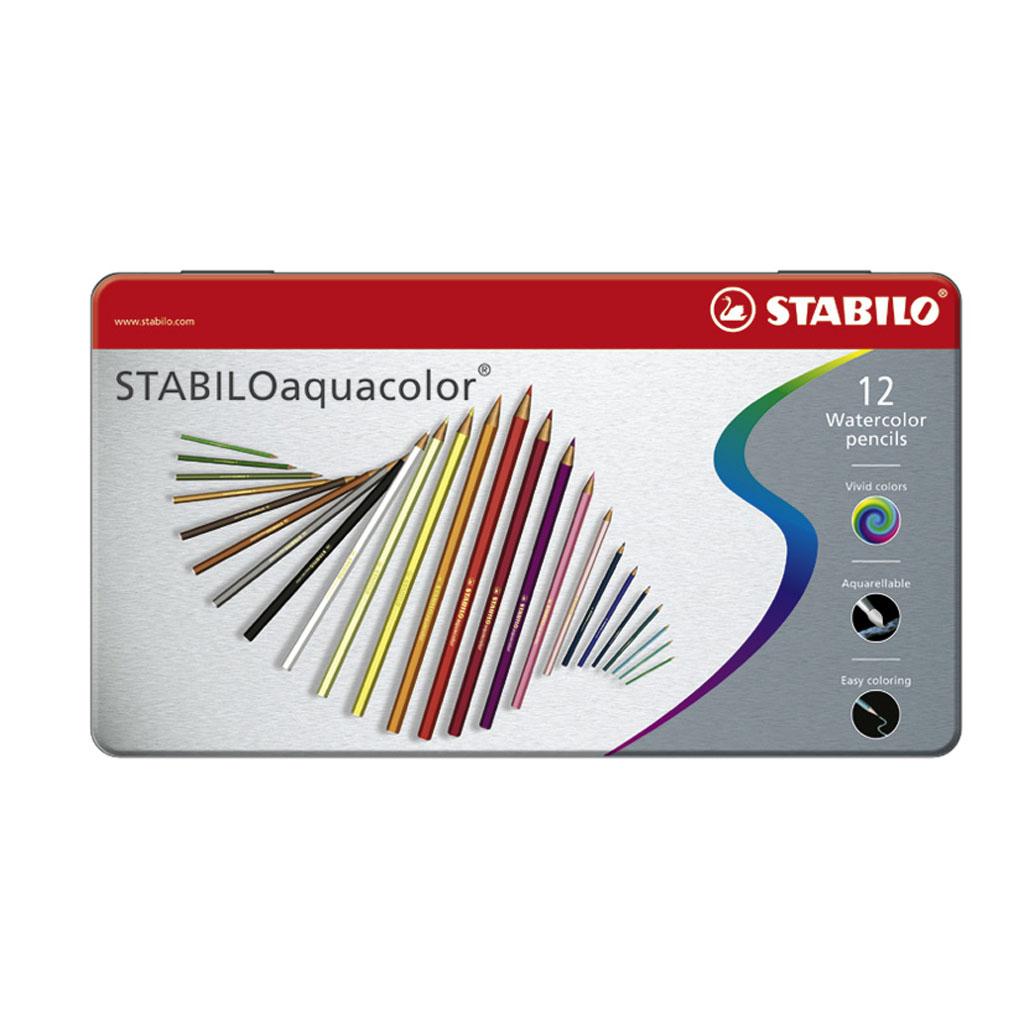 STABILOaquacolor kovové puzdro / 12 ks