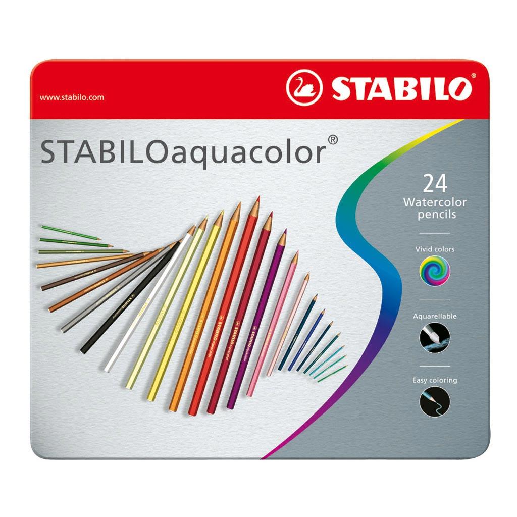 STABILOaquacolor kovové puzdro / 24 ks