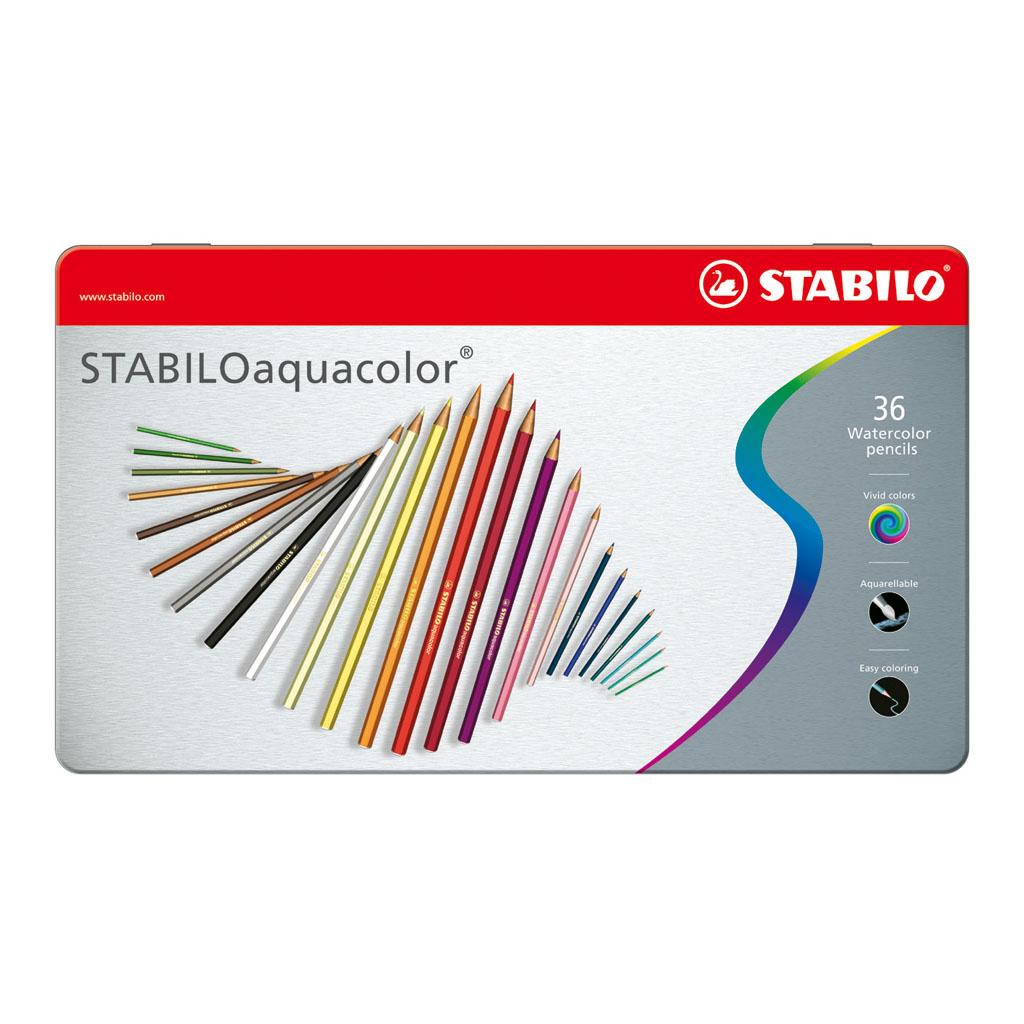 STABILOaquacolor kovové puzdro / 36 ks