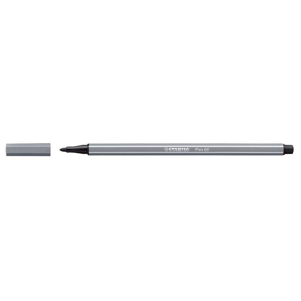 Stabilo Pen 68 fixka, 68/96 tmavo šedá