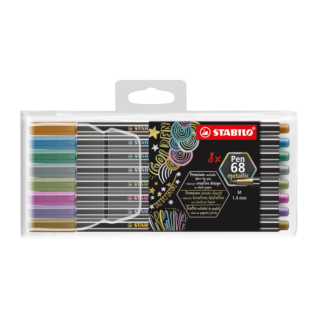 Stabilo Pen 68 fixky metallic / 8 ks