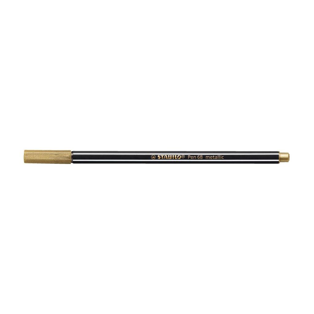 Stabilo Pen 68 fixka, 68/810 metallic zlatá