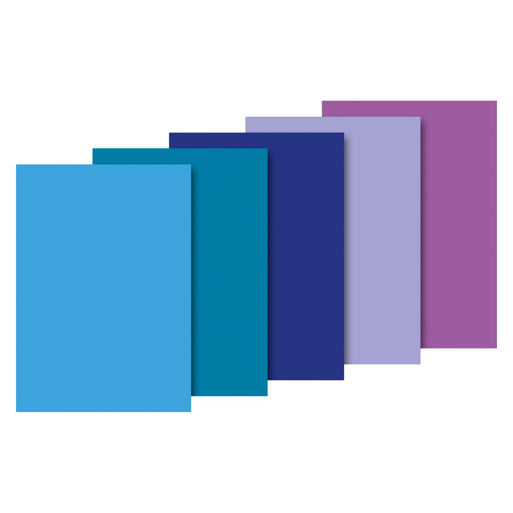 Papier hodvábny, 50x70 cm, 10 ks - modrý mix
