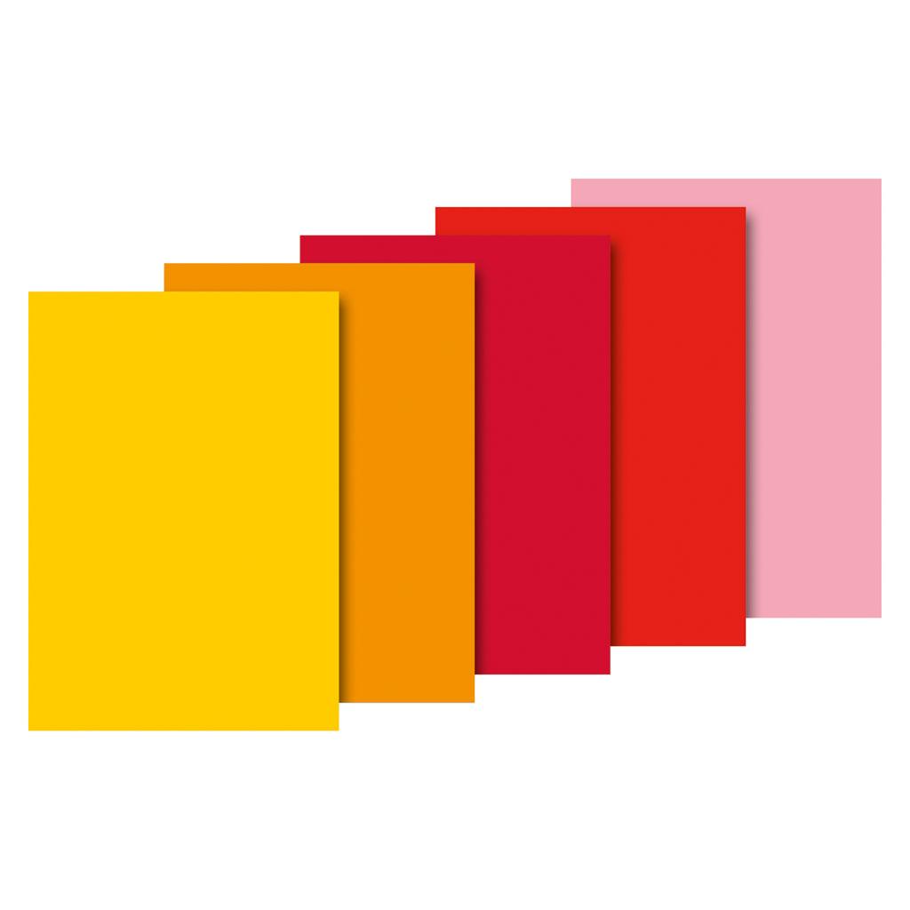 Papier hodvábny, 50x70 cm, 10 ks - červený mix