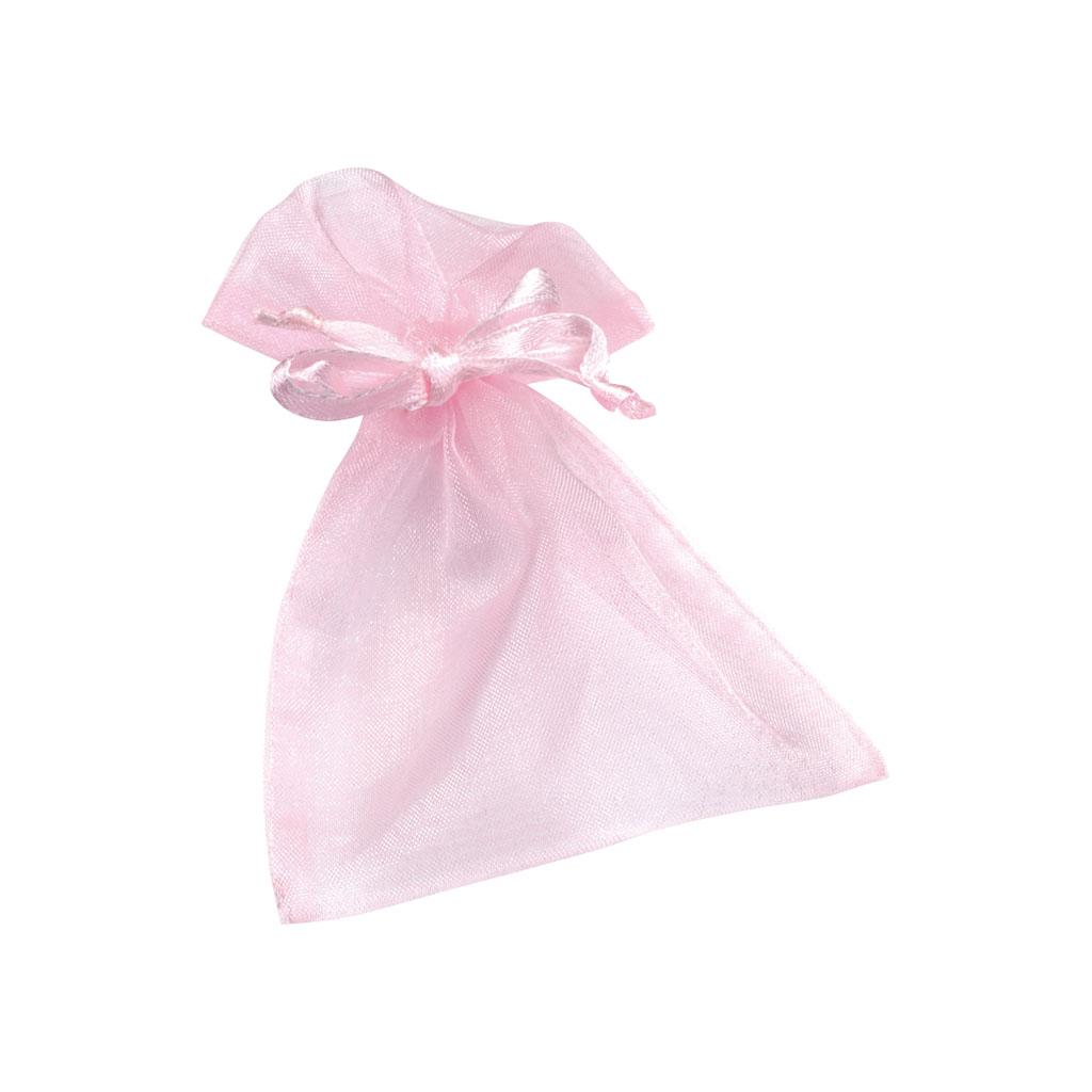 Vrecko organzové, 13x10 cm - ružové
