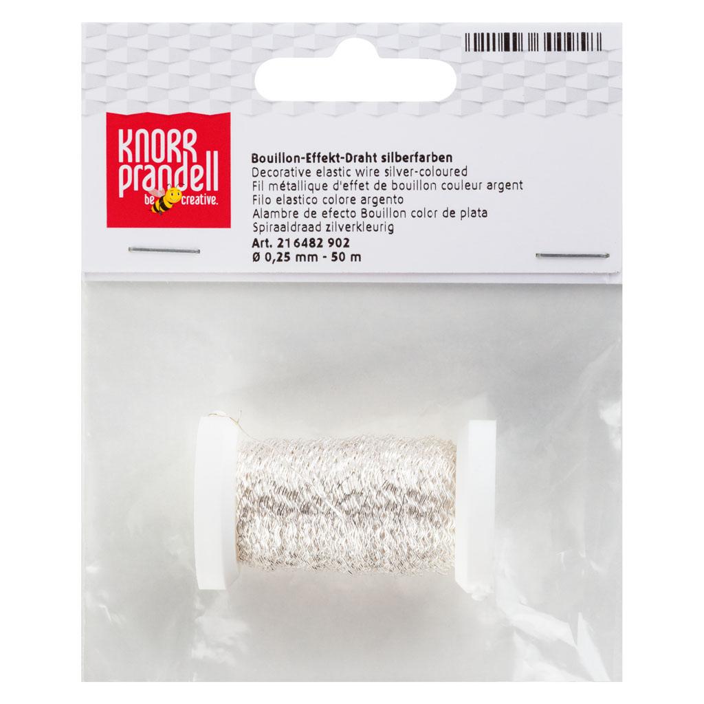 Drôt dekoračný elastický 0,25 mm, 50m - strieborný