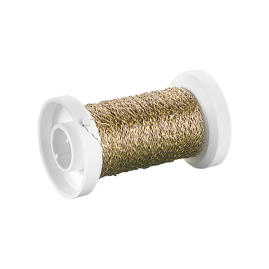 Drôt dekoračný elastický 0,25 mm, 50m - zlatý