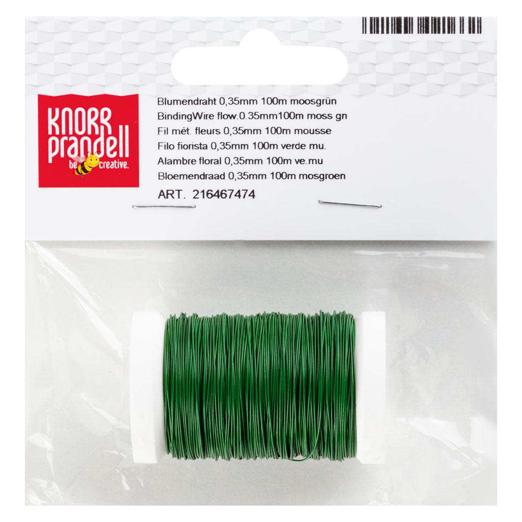 Drôt viazací 0,35 mm, 100m - zelený