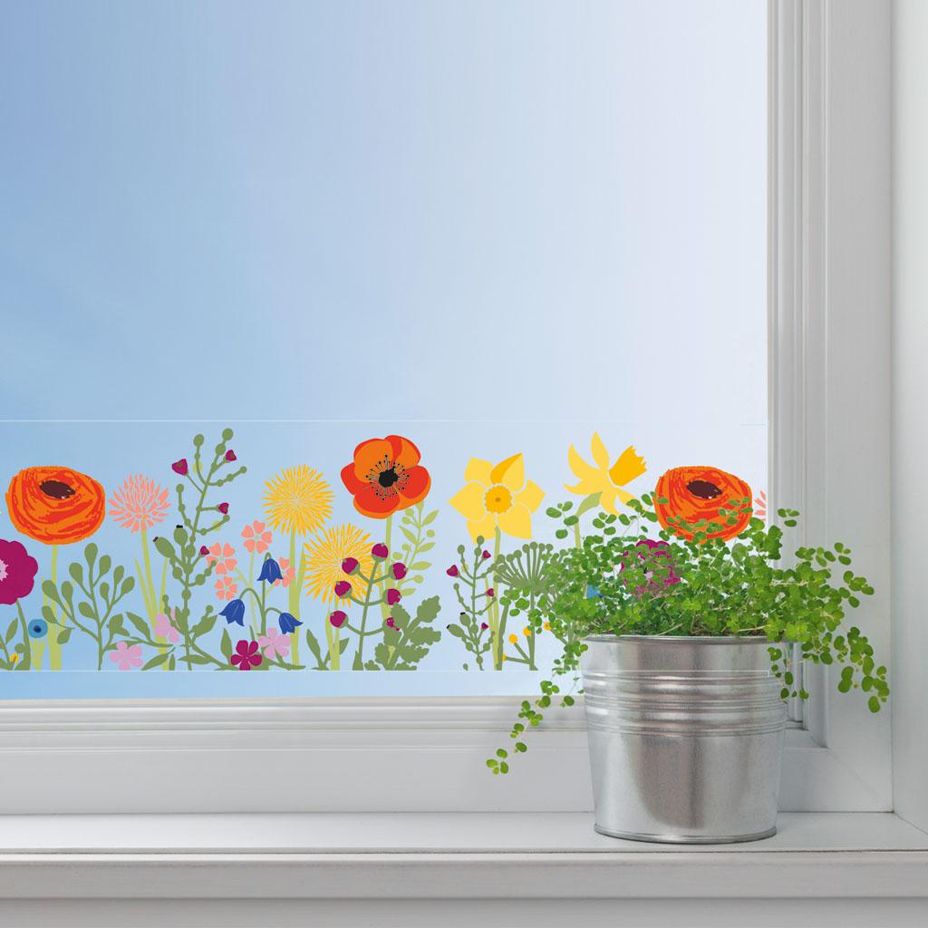 Dekoračná adhezívna páska, 76 mm x 2 m - kvety