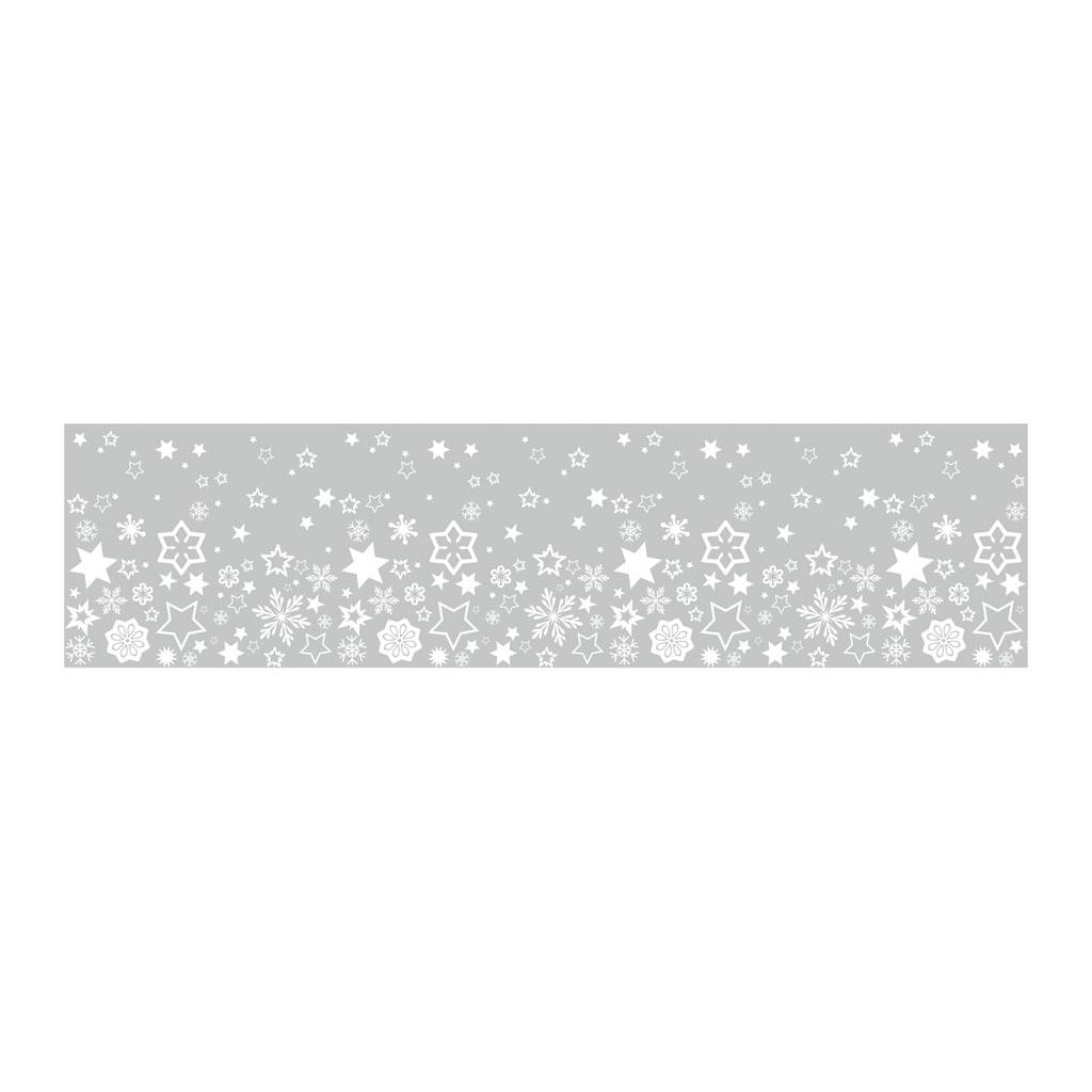 Dekoračná adhezívna páska, 76 mm x 2 m - hviezdy
