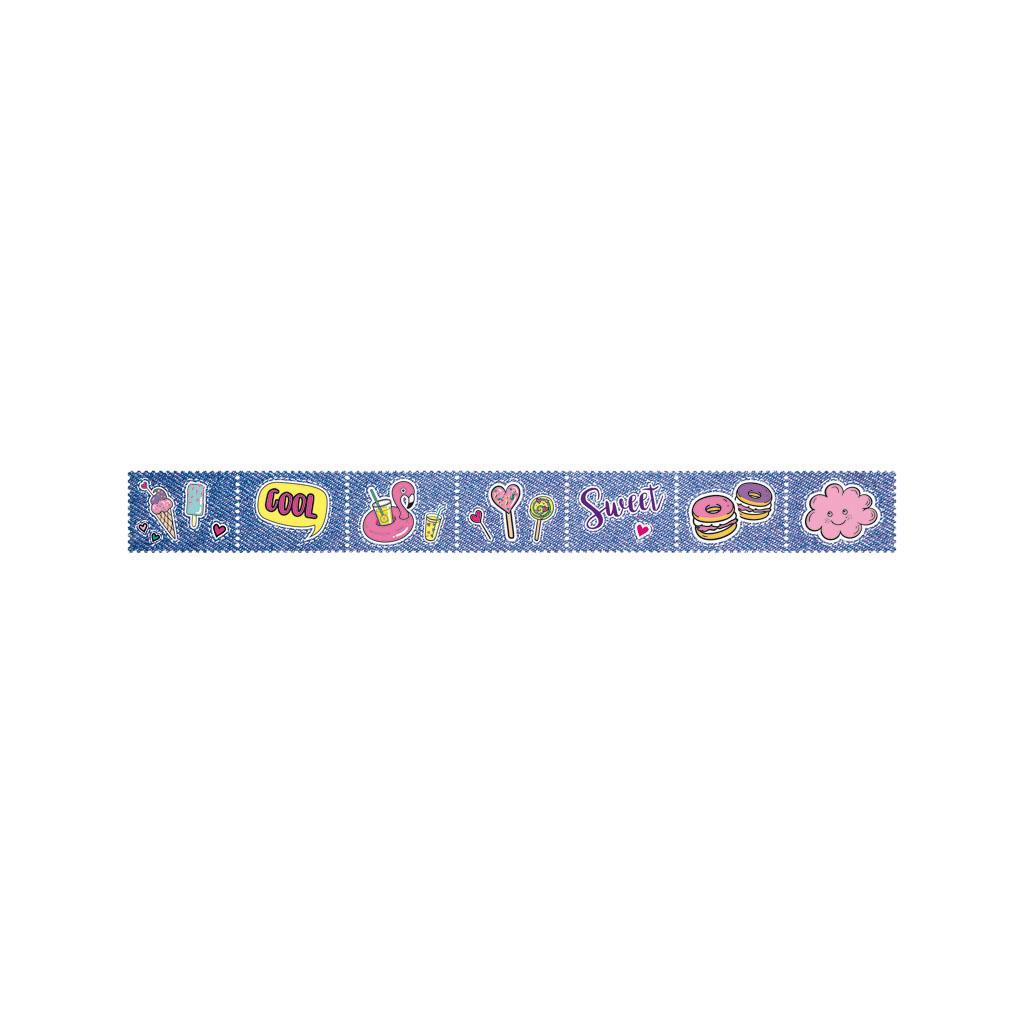 """Dekoračná páska """"známka"""", 25,5 mm x 2,4 m - mix motívov"""