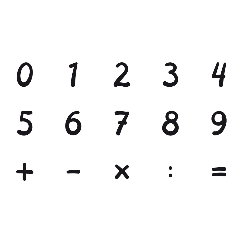 Pečiatky drevené 15 ks + 1 ks atramentová poduška - čísla