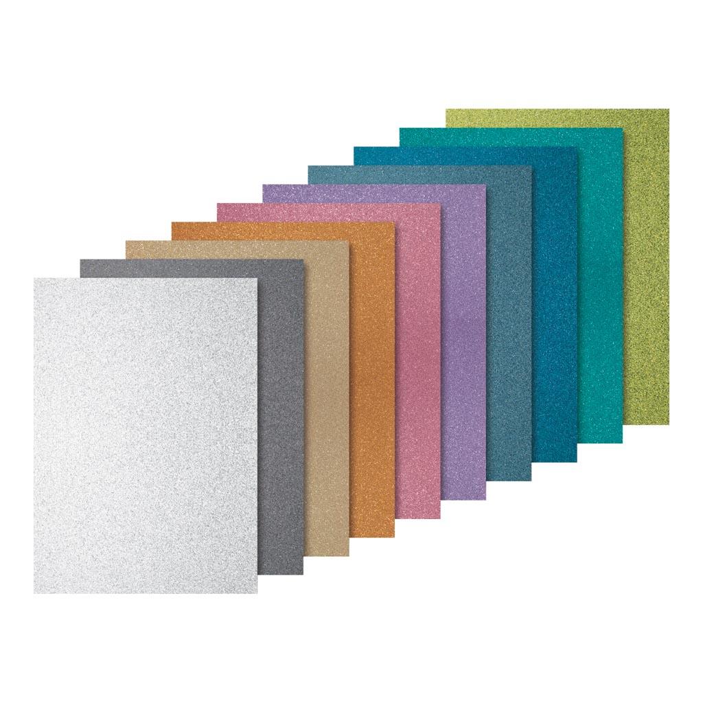 Trblietavý kartón 200g/m2 A4 - mix farieb / 10 ks