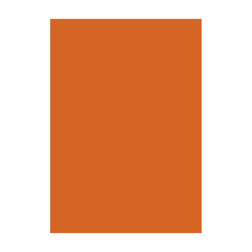 Kresliaci kartón 300g/m2 50x70 cm - oranžový