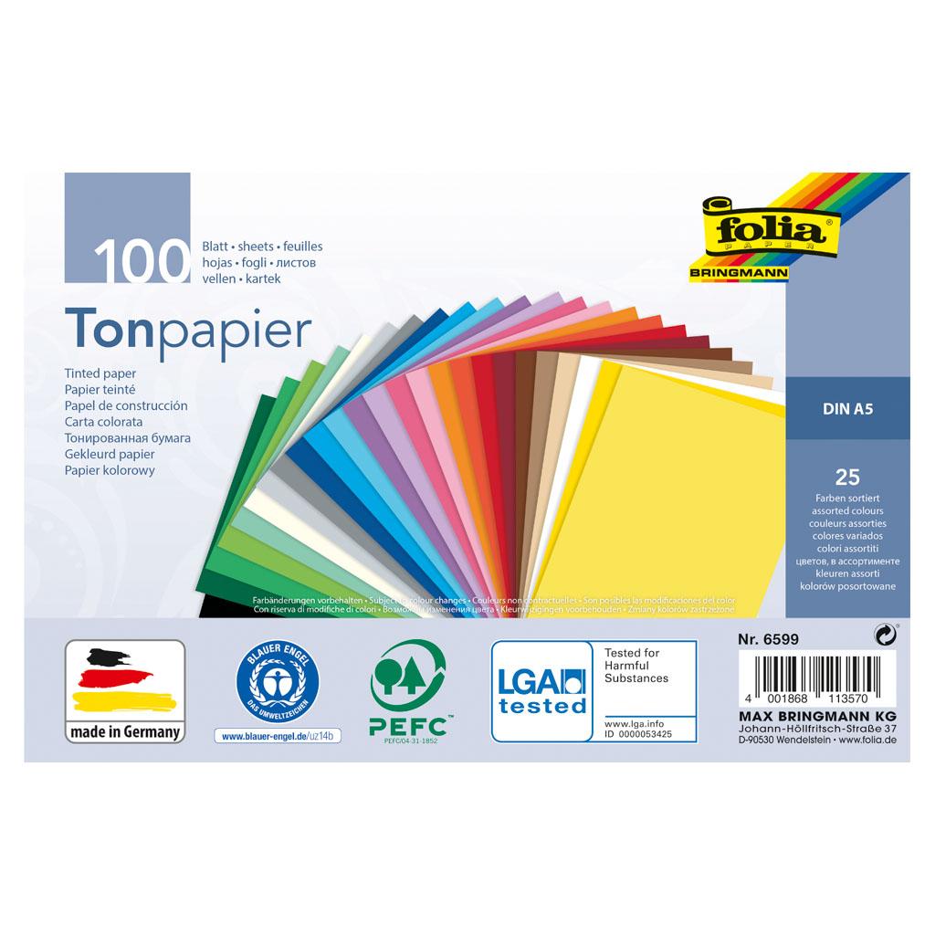 Farebné papiere A5, 100 list., 130 gr.