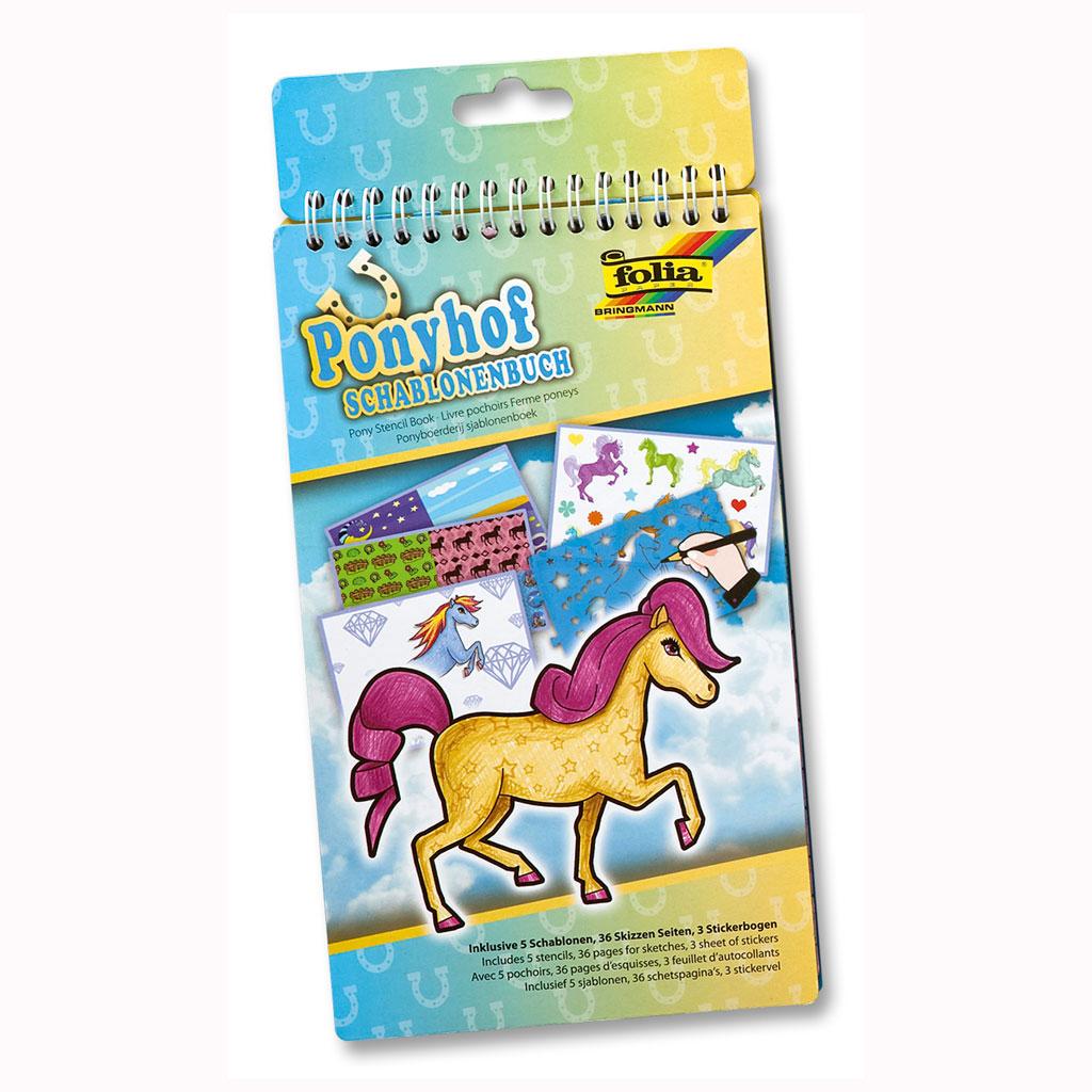 Kreatívny blok šablón - Pony