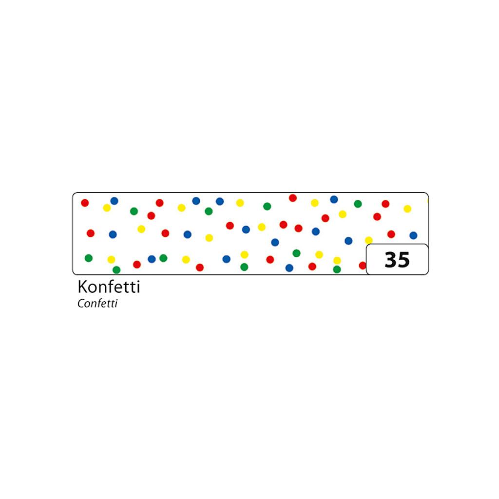 Washi - dekor. páska 15 mm x 10 m - konfety