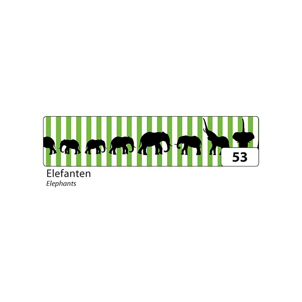 Washi - dekor. páska 15 mm x 10 m - slony