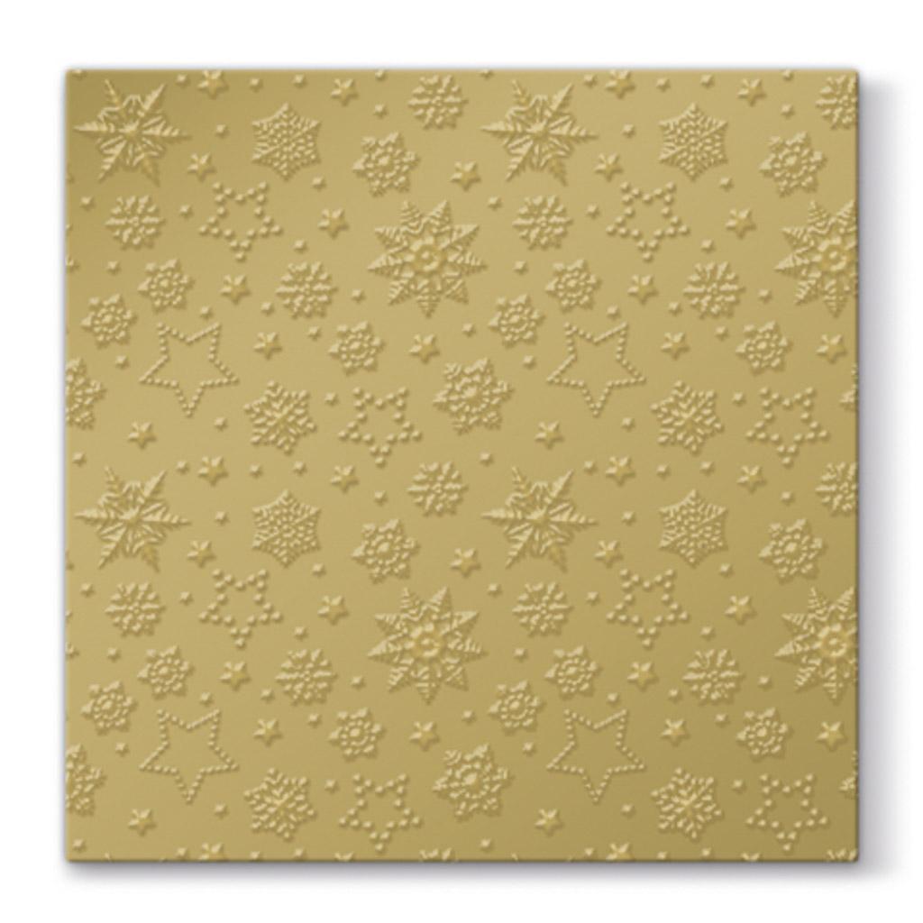 Papier. obrúsky vianočné 33 x 33 cm - zlaté