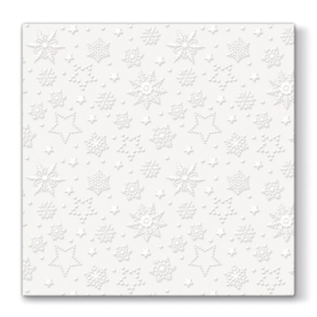 Papier. obrúsky vianočné 33 x 33 cm - biele
