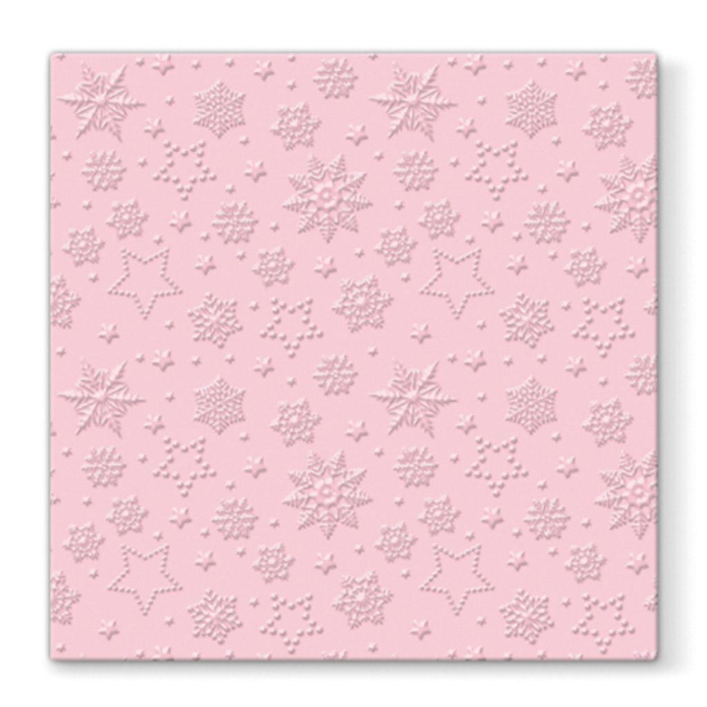 Papier. obrúsky vianočné 33 x 33 cm - ružové
