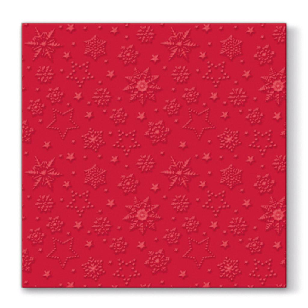Papier. obrúsky vianočné 33 x 33 cm - červené