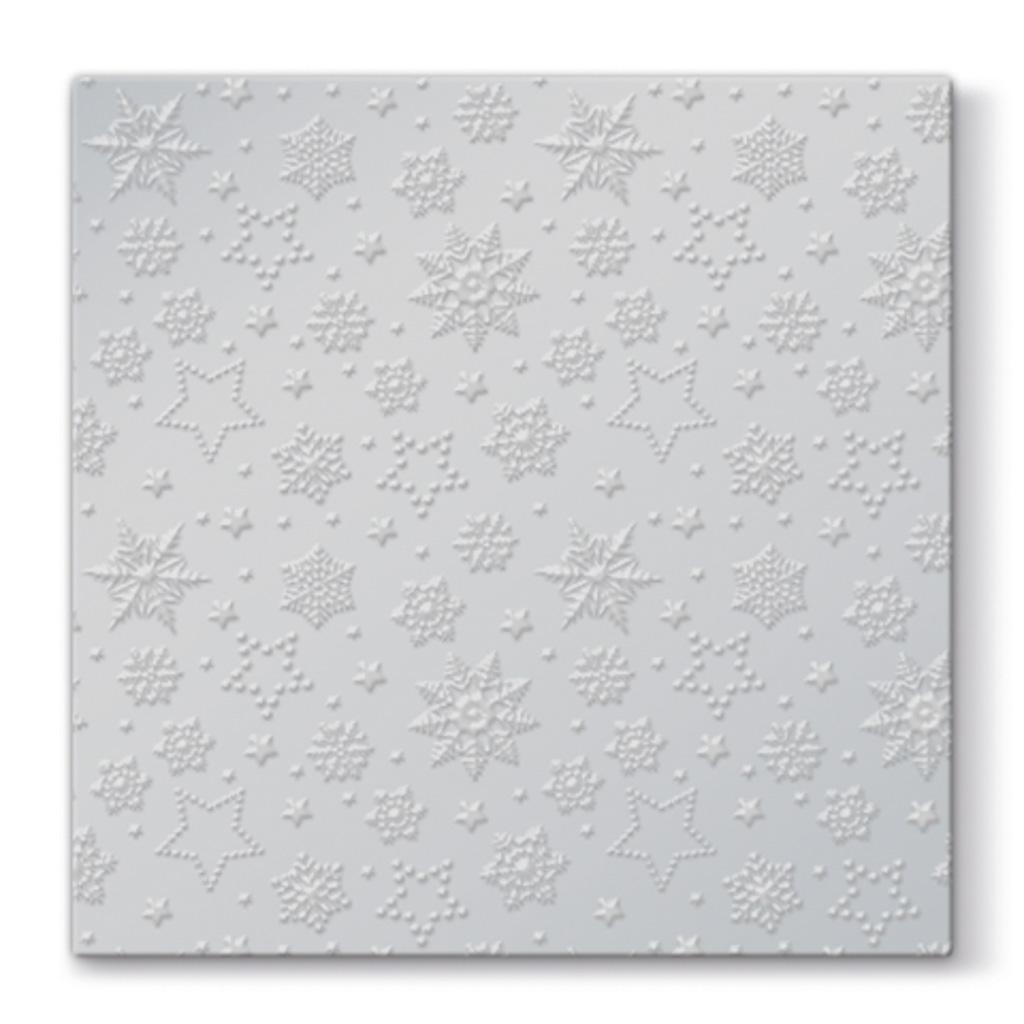 Papier. obrúsky vianočné 33 x 33 cm - strieborné