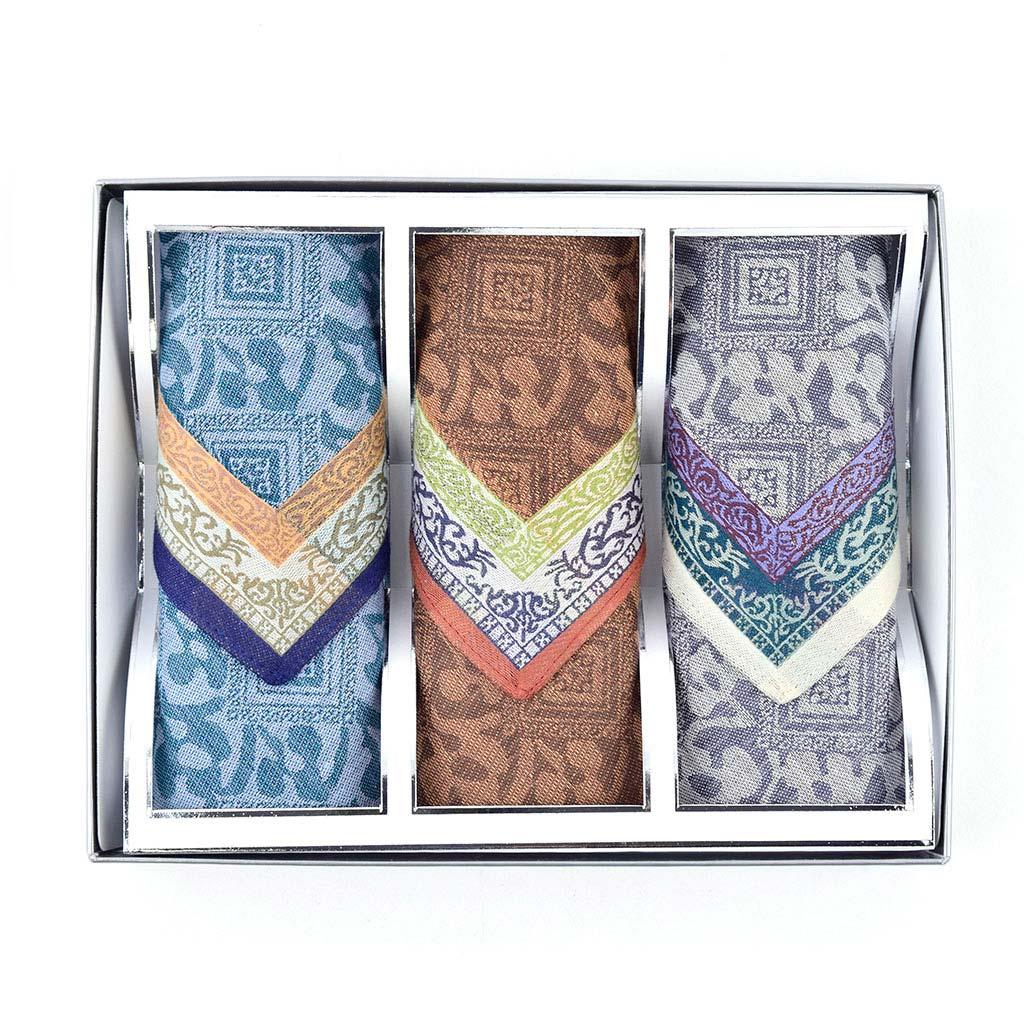 Luxusné pánske vreckovky žakárové, M05, 3 ks