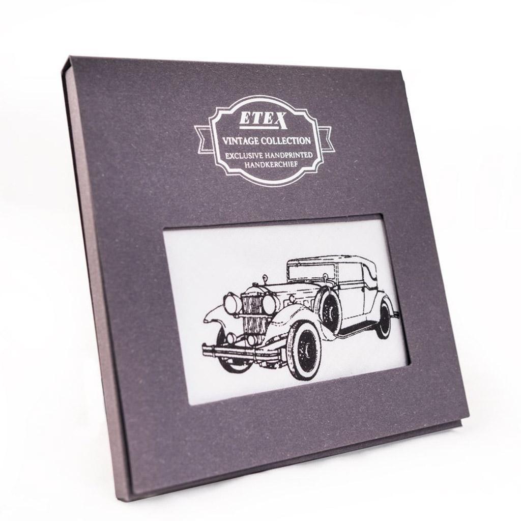 Pánska vreckovka s potlačou M35, vintage štýl, 1 ks, mix motívov