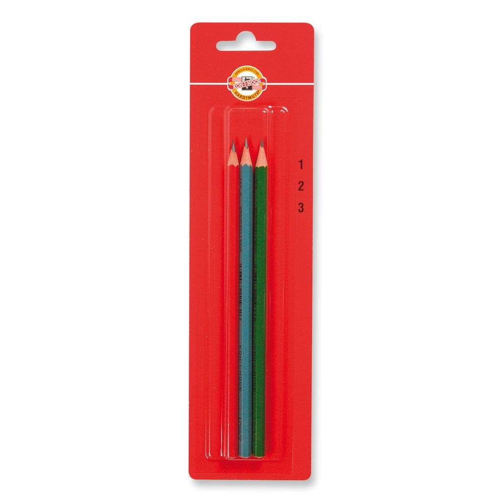 K-I-N ceruzka grafit. tech. 1703 - č. 1,2,3 / 3 ks