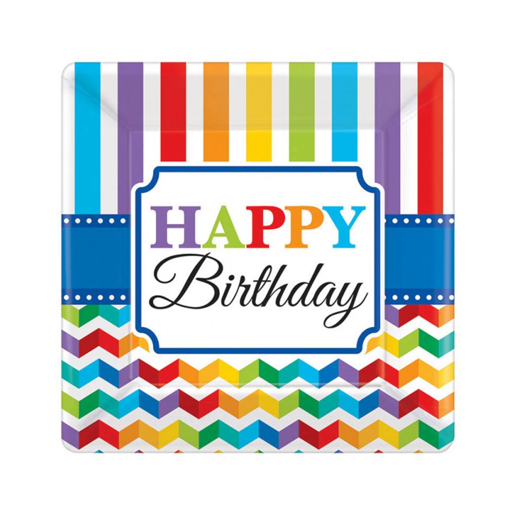 "Tanierik ""Happy Birthday"", 8 ks"
