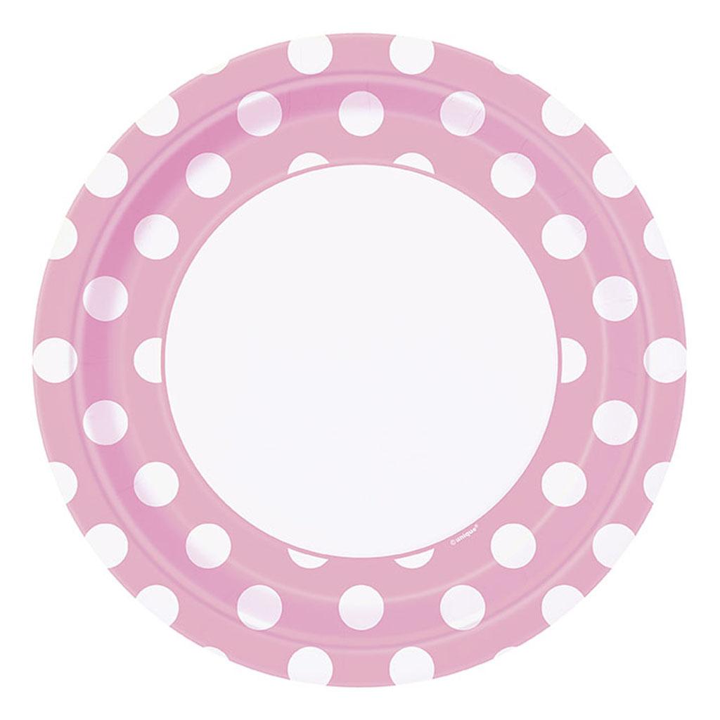 """Tanierik """"ružové bodky"""", 8 ks"""