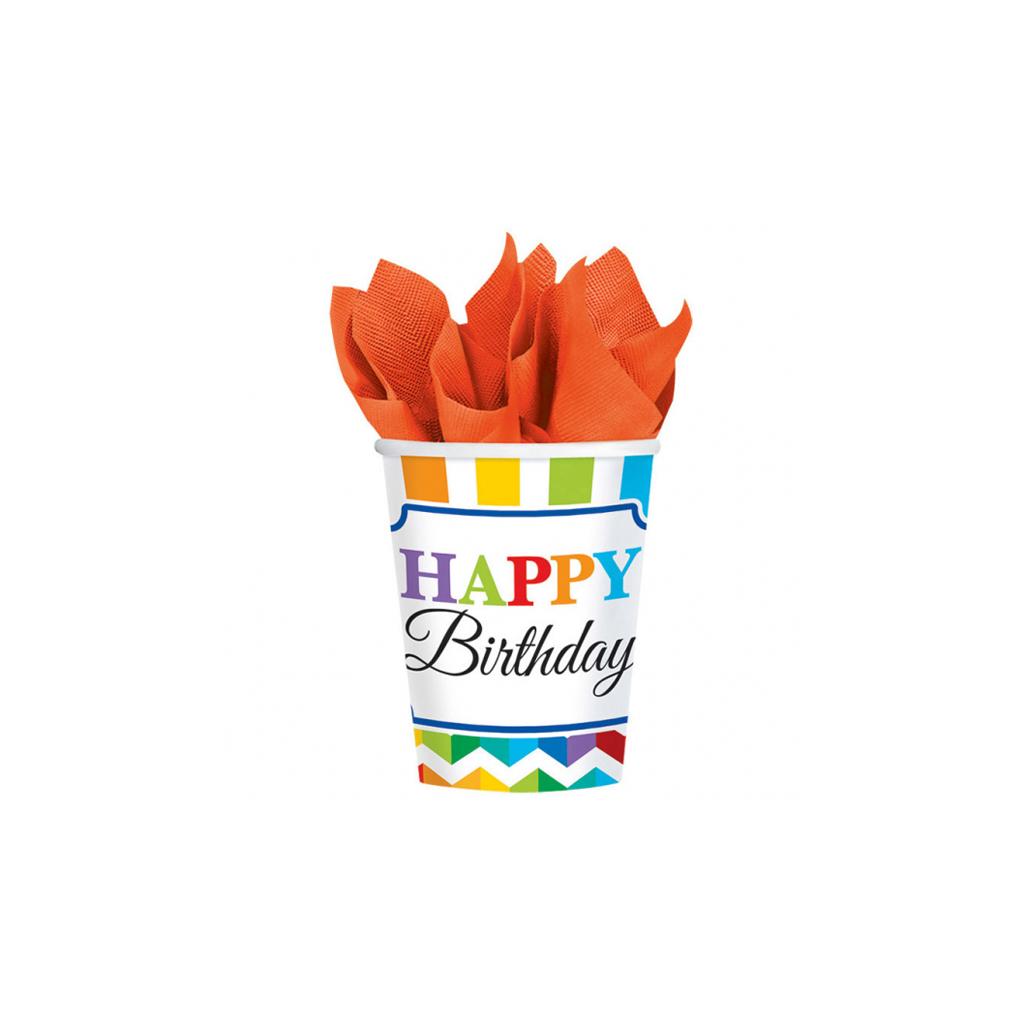 "Pohárik ""Happy Birthday"", 8 ks"